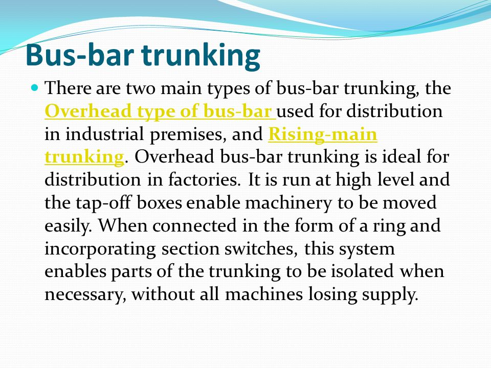 Bus-bar trunking
