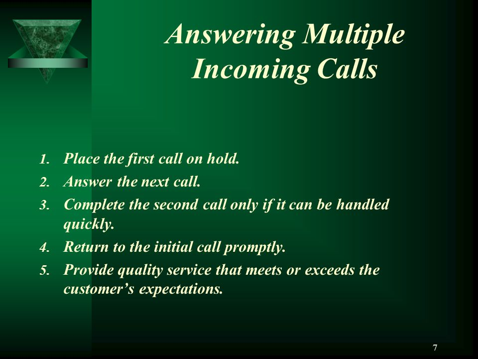 Answering Multiple Incoming Calls