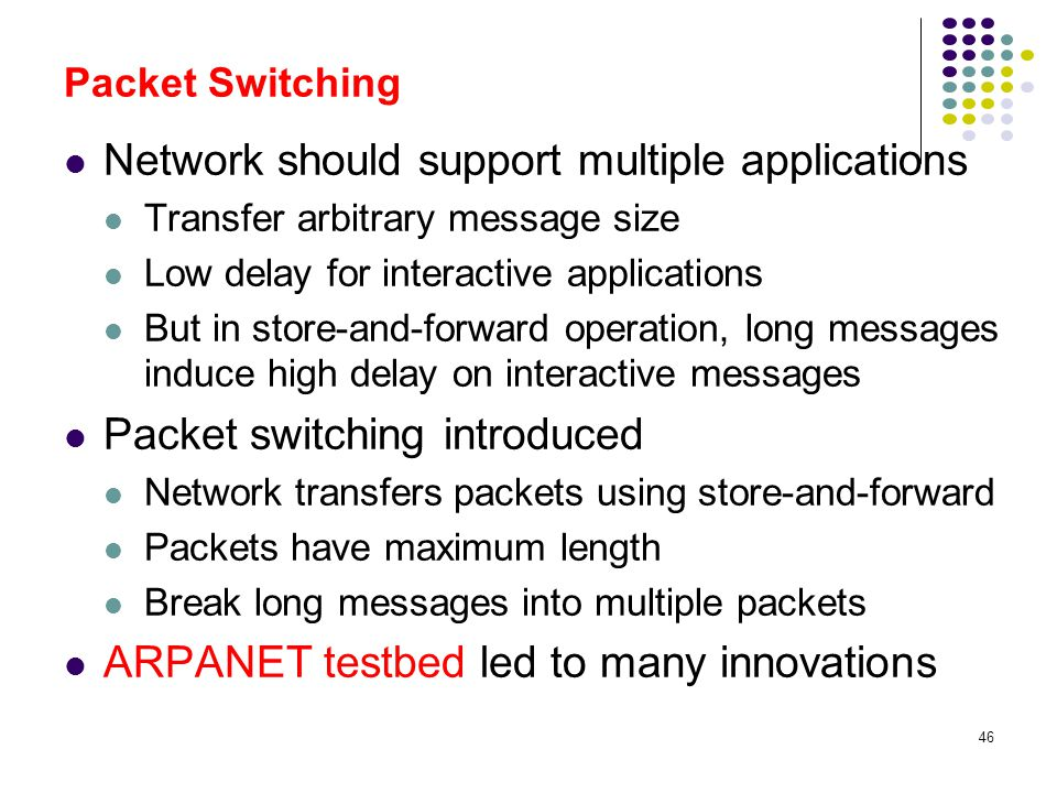 Network should support multiple applications