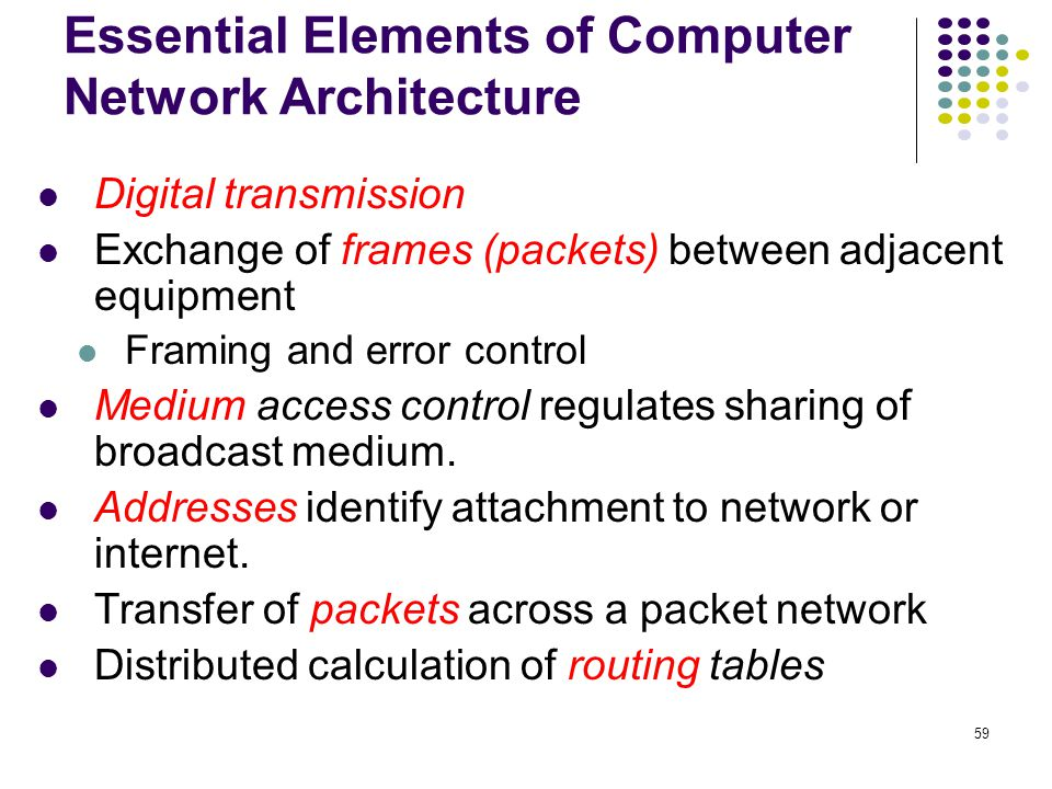Essential Elements of Computer Network Architecture