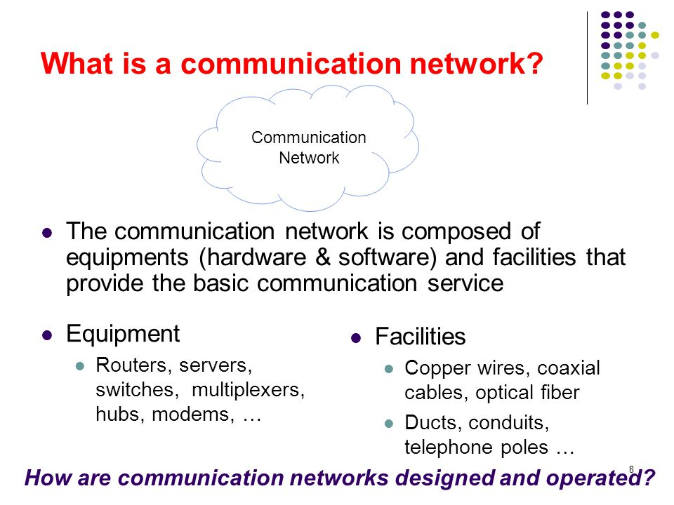What is a communication network
