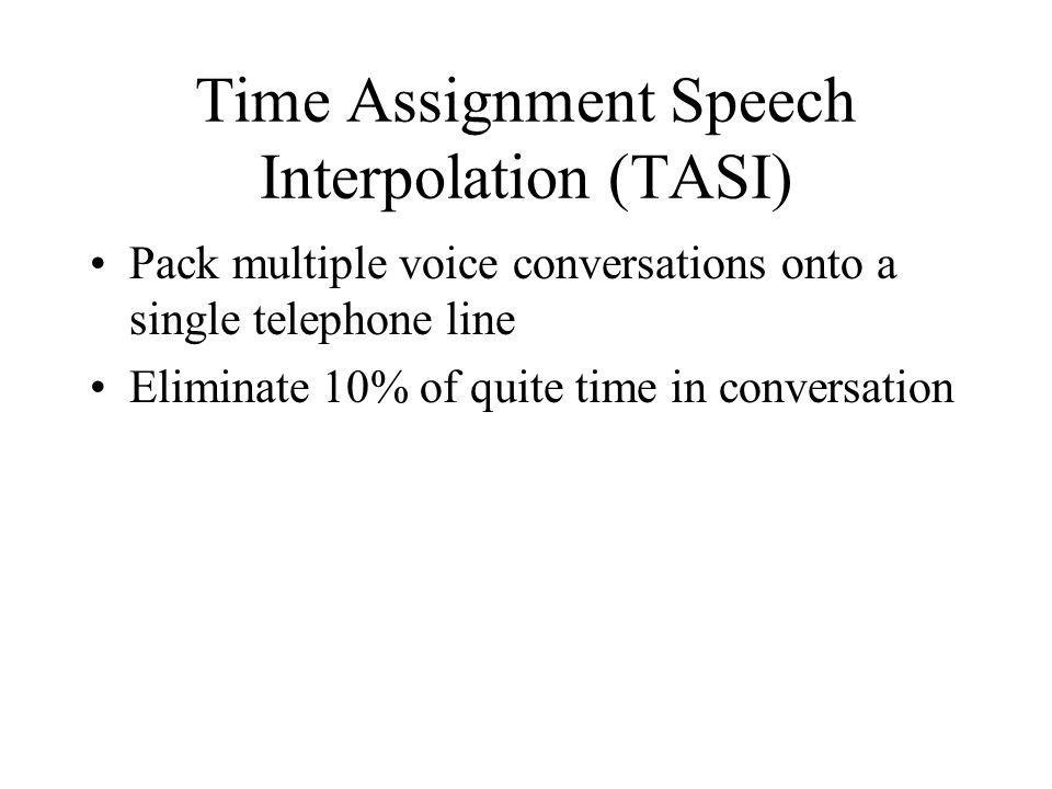 Time Assignment Speech Interpolation (TASI)