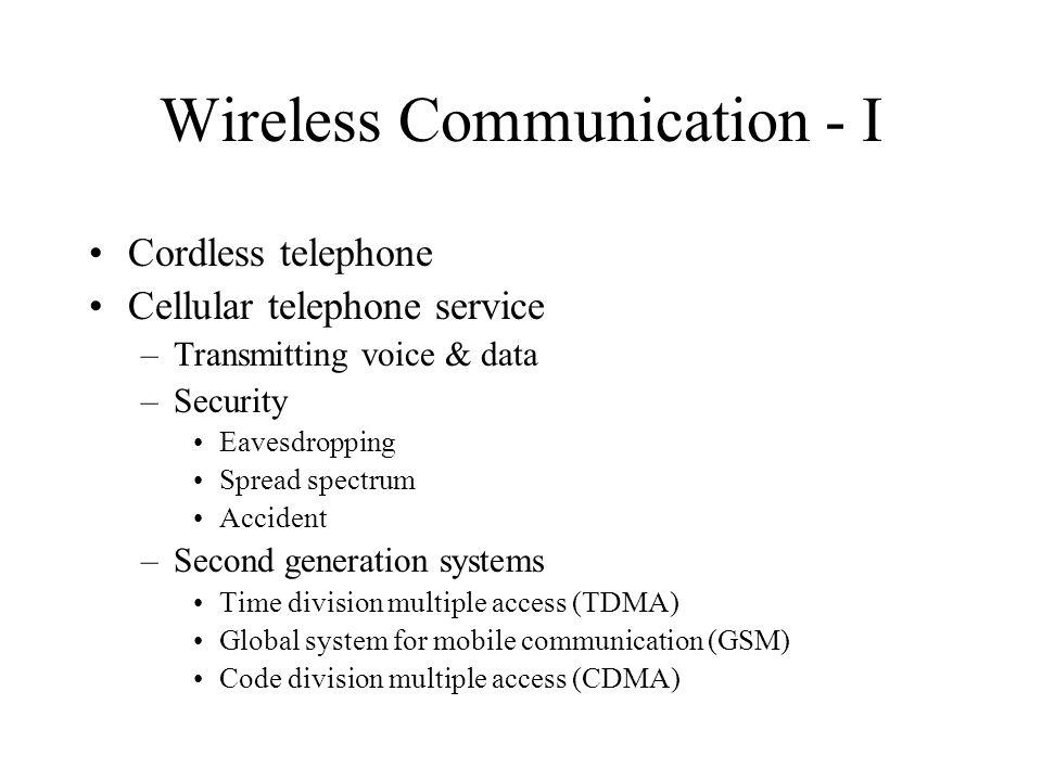 Wireless Communication - I
