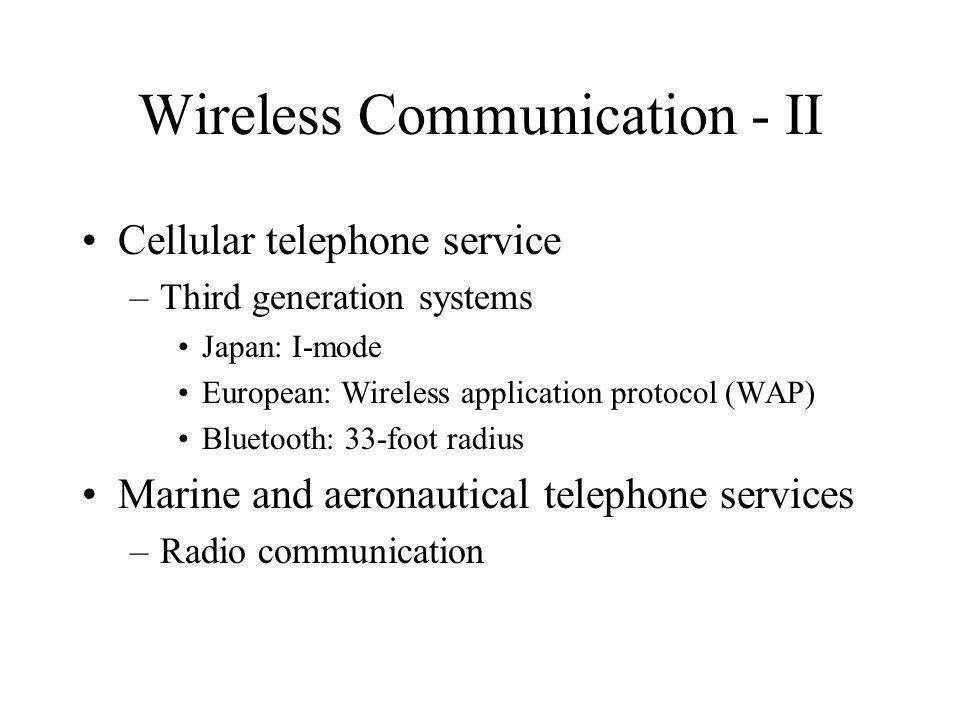 Wireless Communication - II