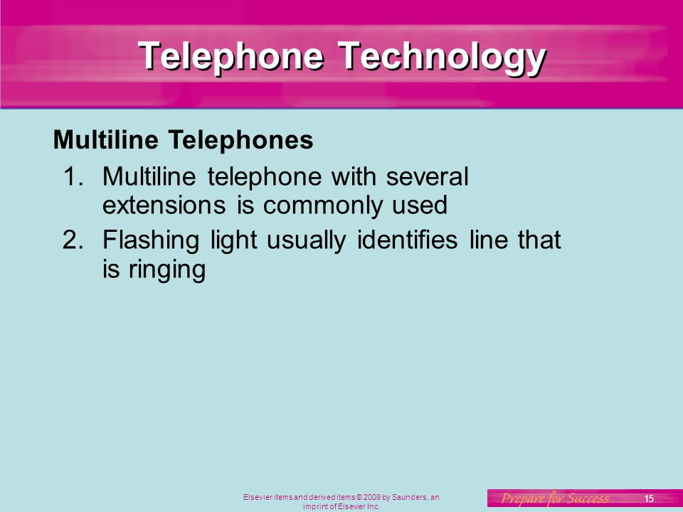 Telephone Technology Multiline Telephones