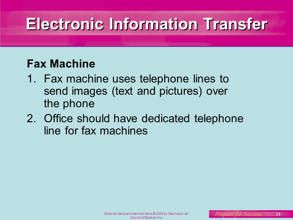 Electronic Information Transfer
