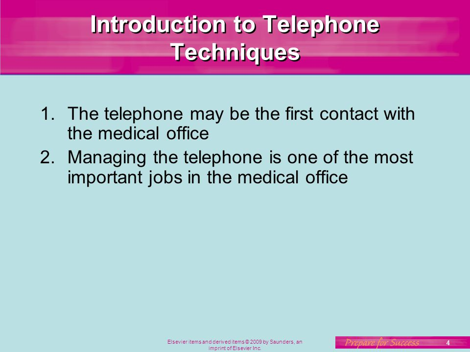 Introduction to Telephone Techniques
