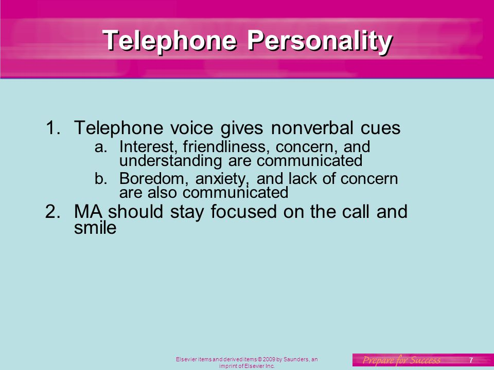 Telephone Personality