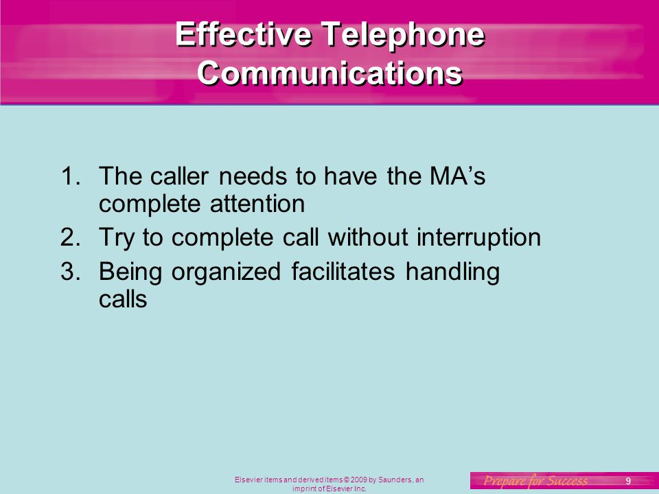 Effective Telephone Communications
