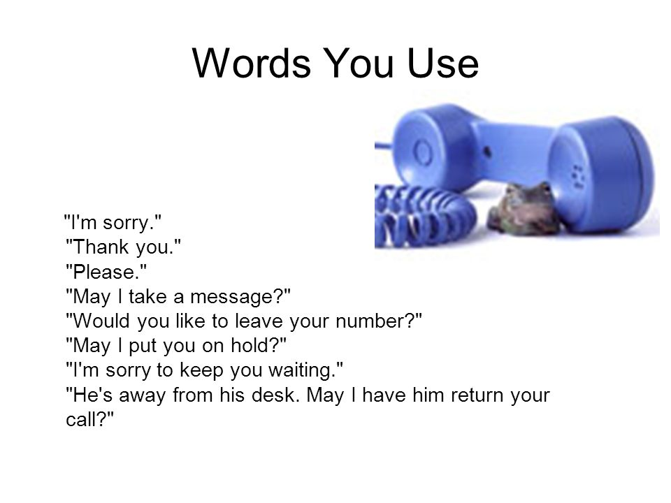 Words You Use