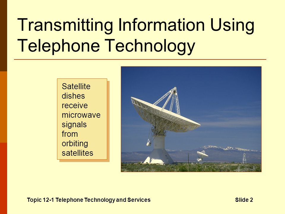 Transmitting Information Using Telephone Technology