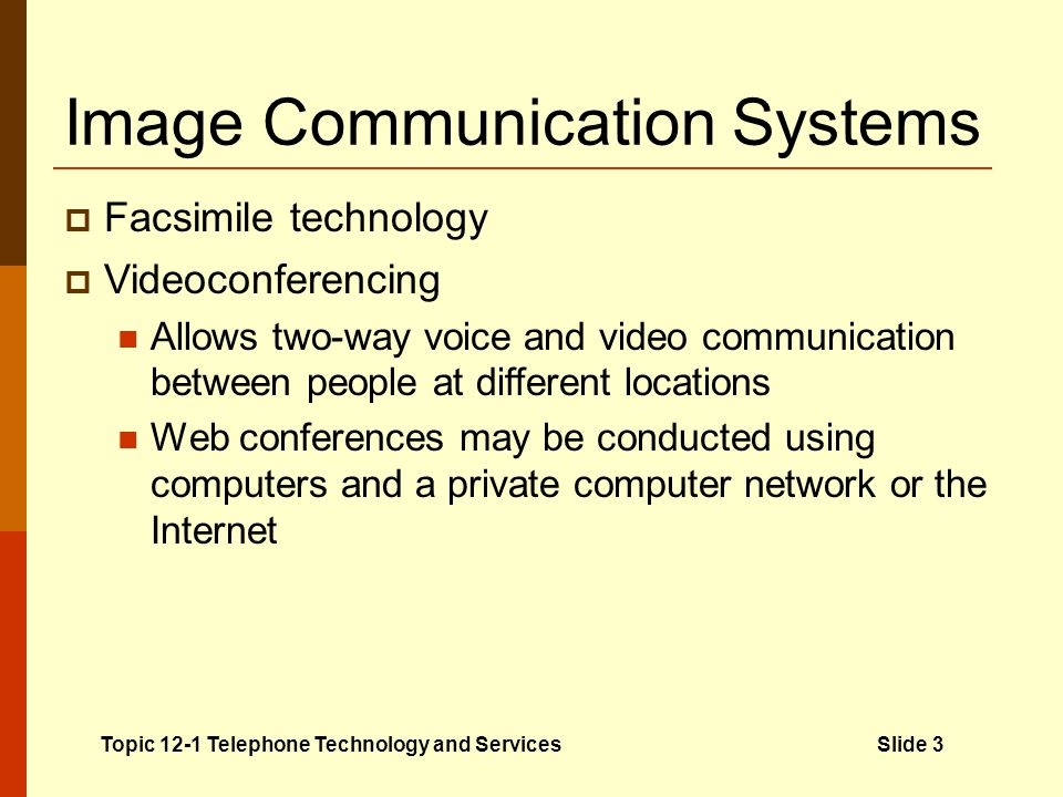Image Communication Systems