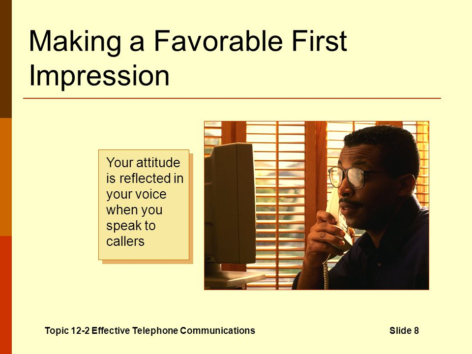 Making a Favorable First Impression