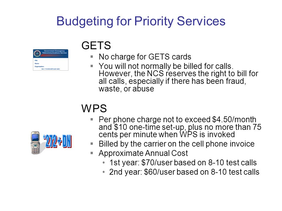 Budgeting for Priority Services