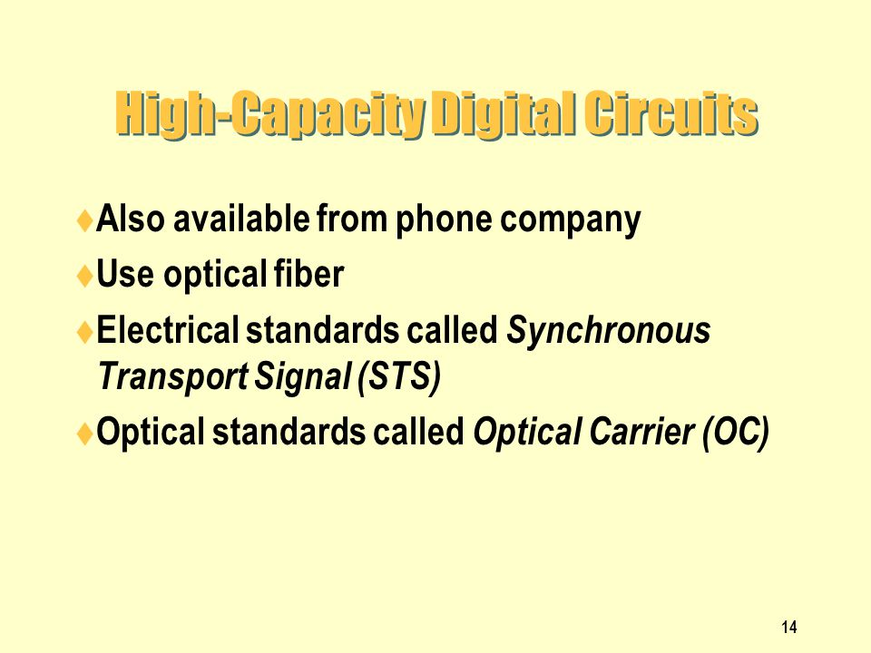 High-Capacity Digital Circuits
