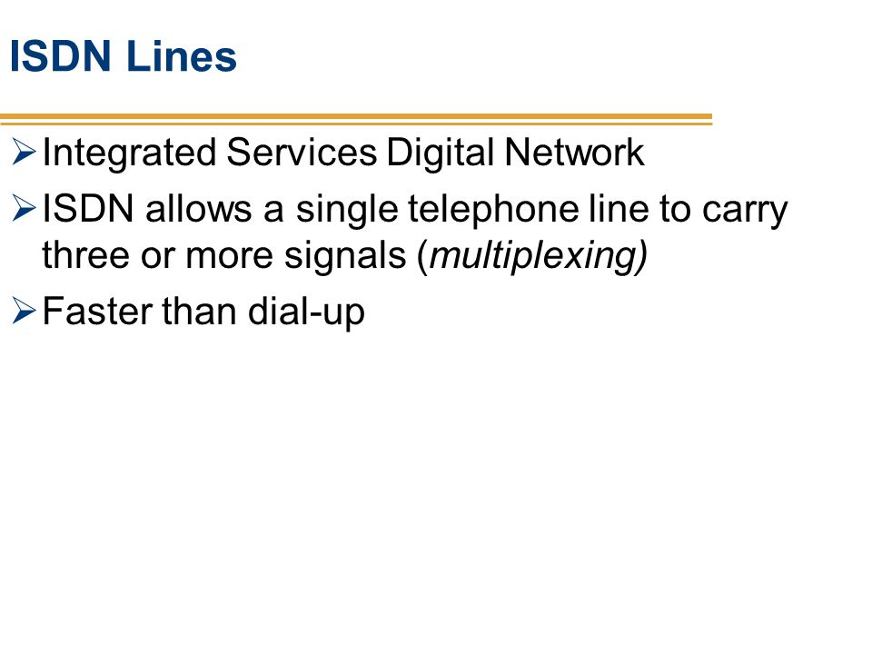 ISDN Lines Integrated Services Digital Network