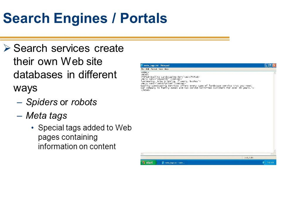 Search Engines / Portals