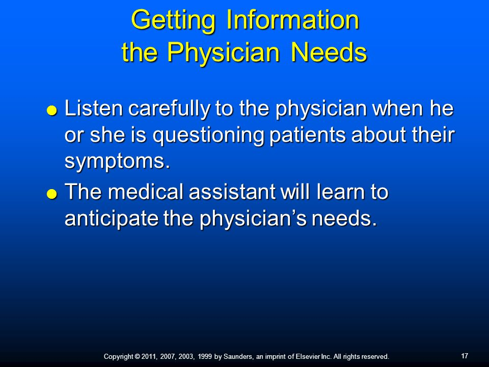 Getting Information the Physician Needs