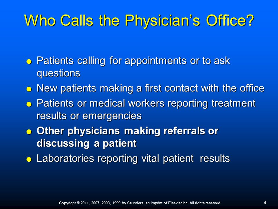 Who Calls the Physician's Office