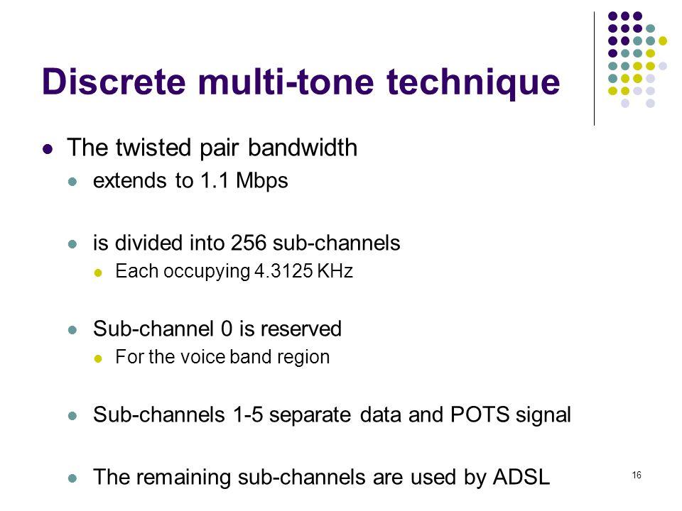 Discrete multi-tone technique