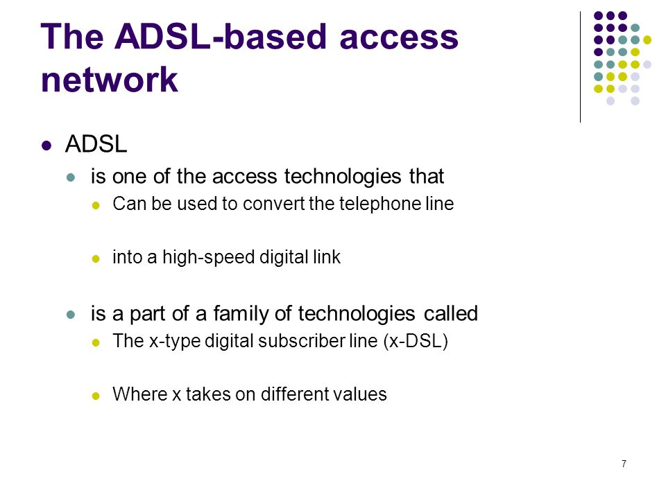 The ADSL-based access network