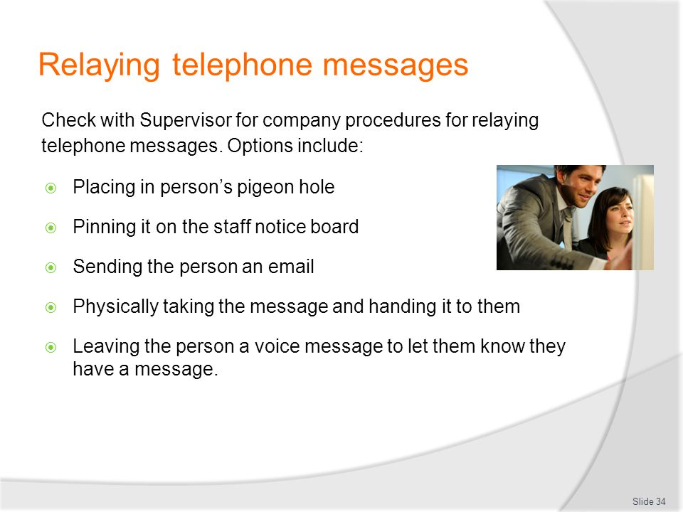Relaying telephone messages
