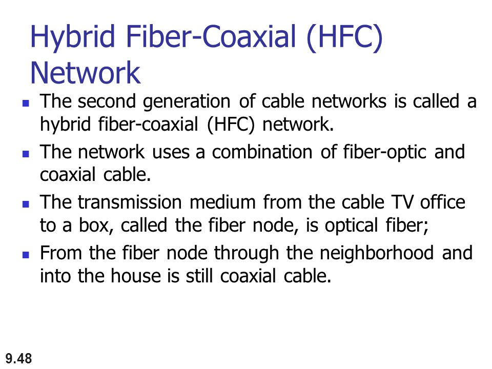 Hybrid Fiber-Coaxial (HFC) Network