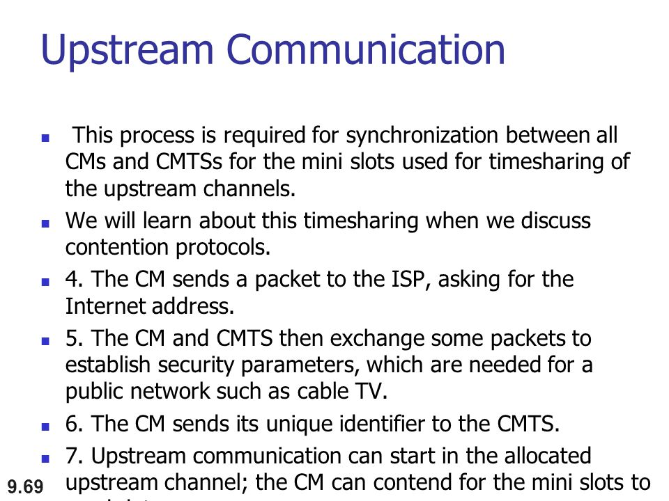 Upstream Communication