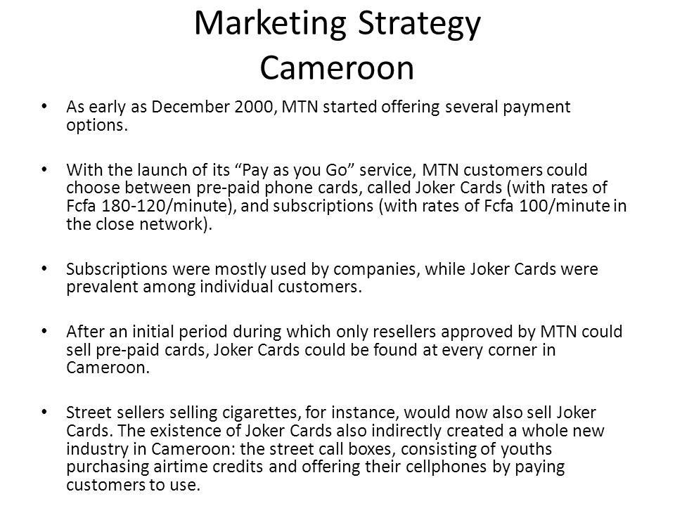 Marketing Strategy Cameroon