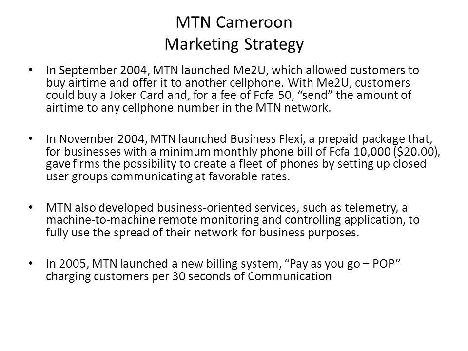 MTN Cameroon Marketing Strategy