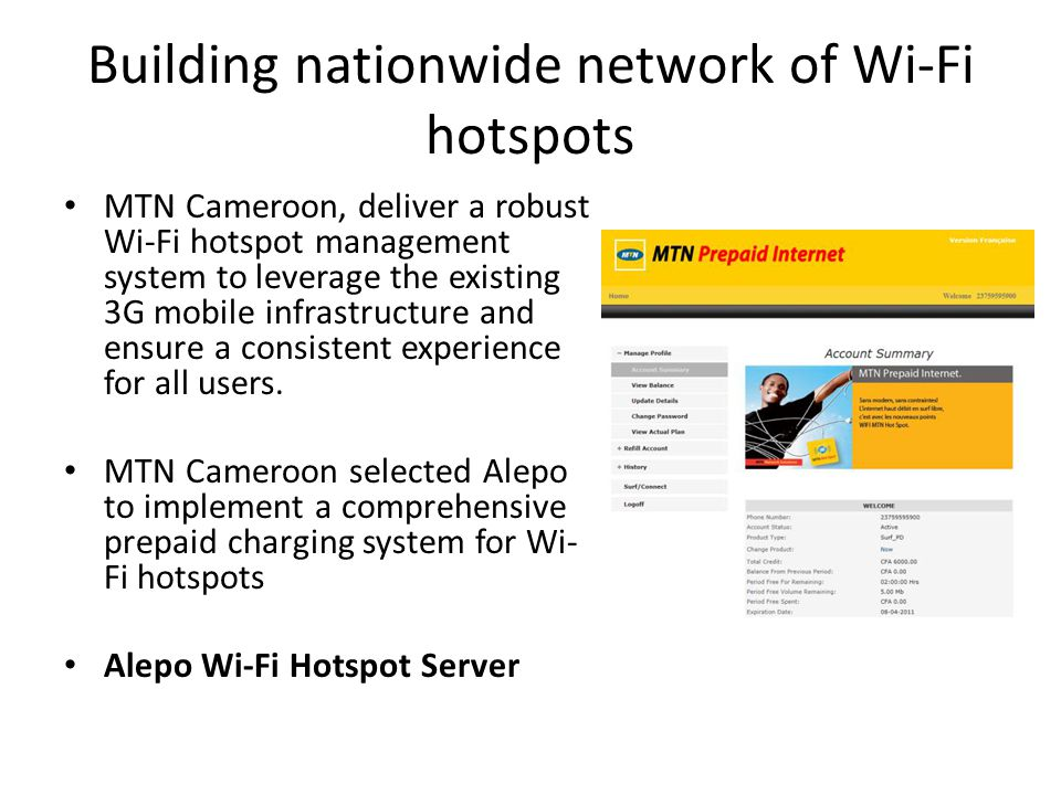 Building nationwide network of Wi-Fi hotspots