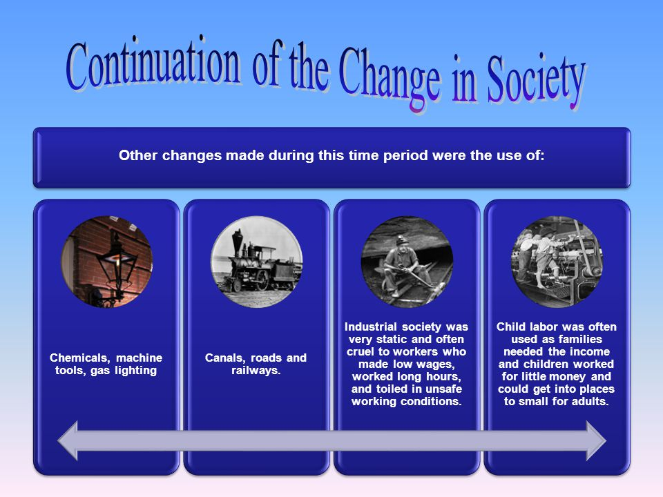 Other changes made during this time period were the use of: