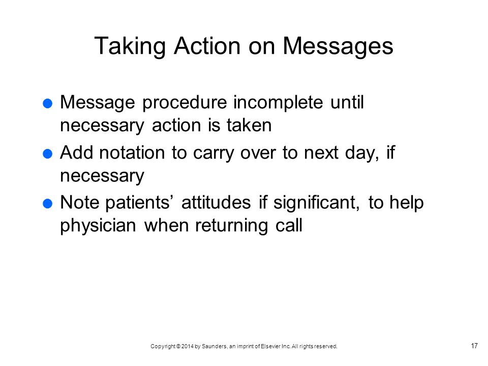 Taking Action on Messages