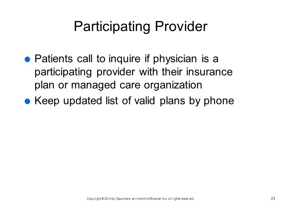 Participating Provider