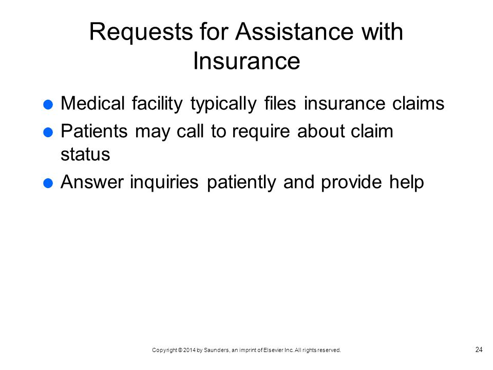 Requests for Assistance with Insurance