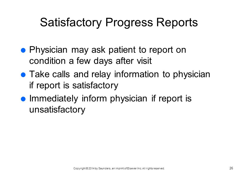 Satisfactory Progress Reports