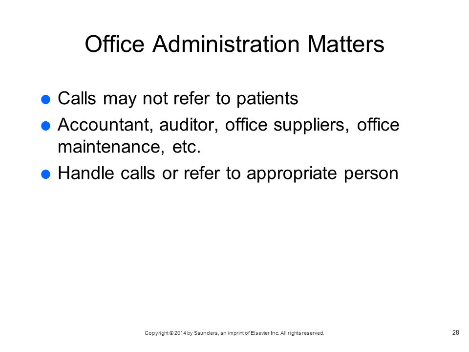 Office Administration Matters