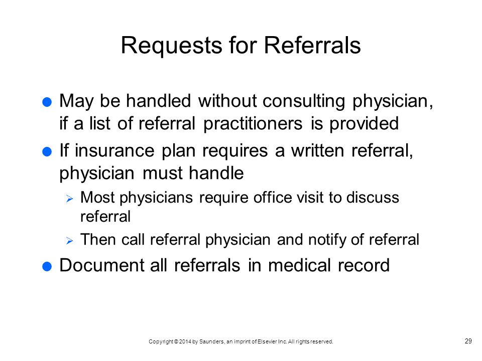 Requests for Referrals