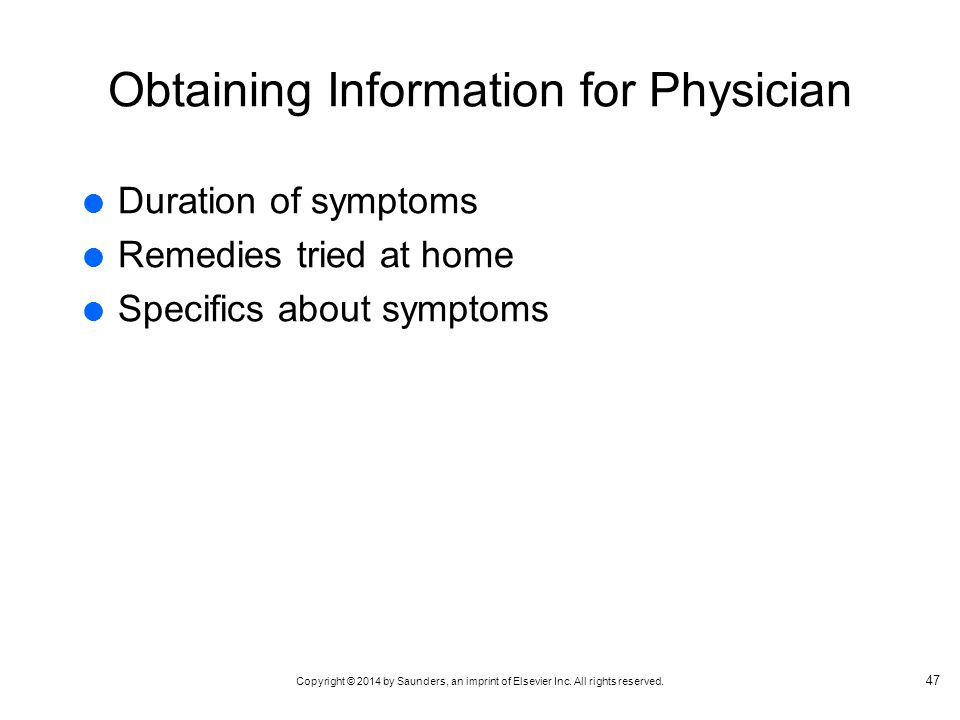 Obtaining Information for Physician