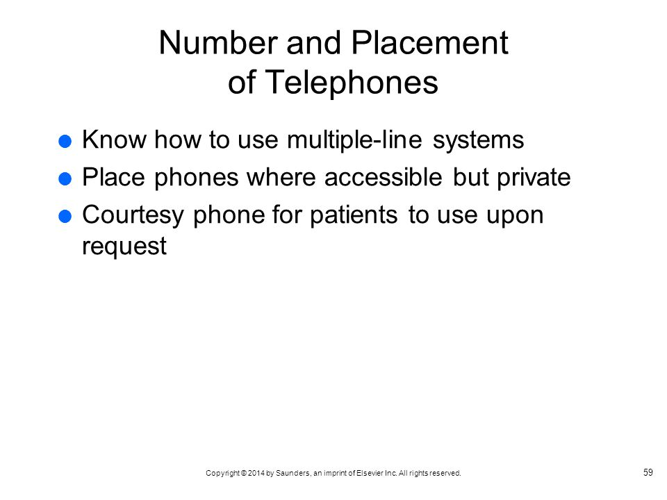 Number and Placement of Telephones