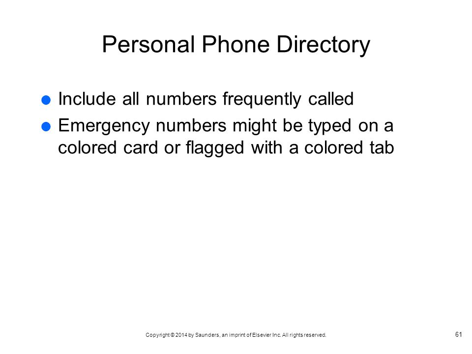 Personal Phone Directory