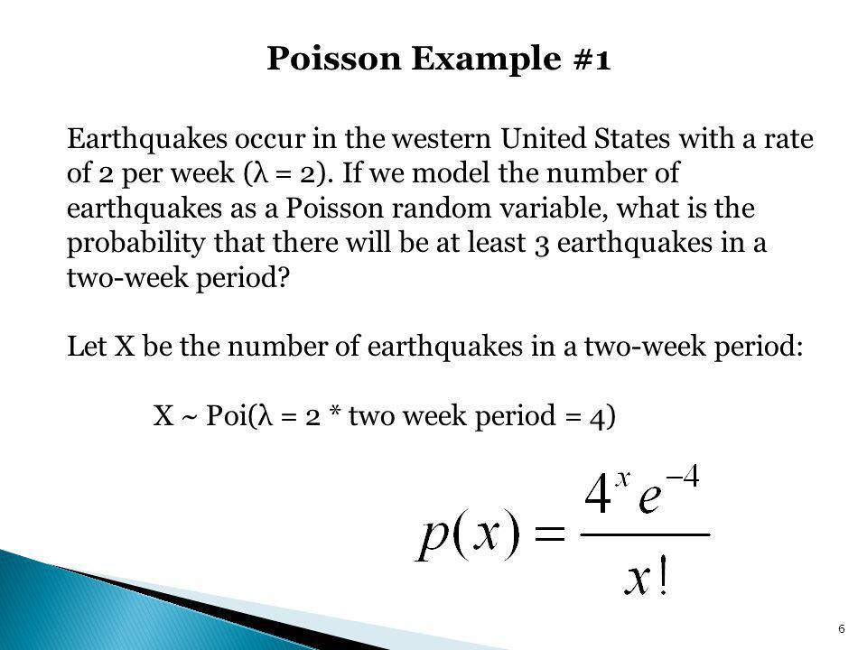 Chapter 5.5: Poisson Distribution, Poisson Approximation to Binomial ...