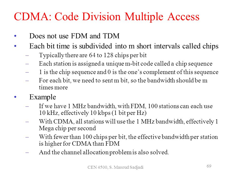 CDMA: Code Division Multiple Access