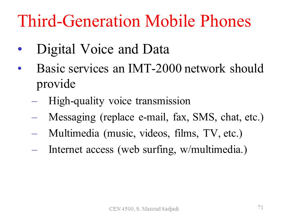 Third-Generation Mobile Phones
