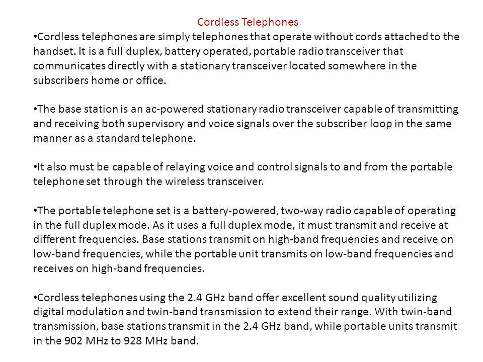 Cordless Telephones