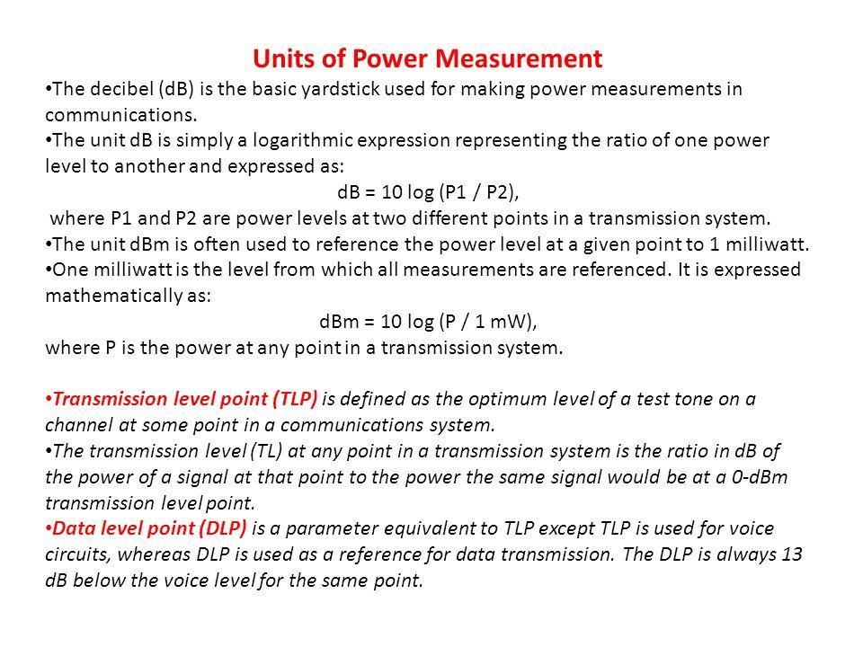 Units of Power Measurement