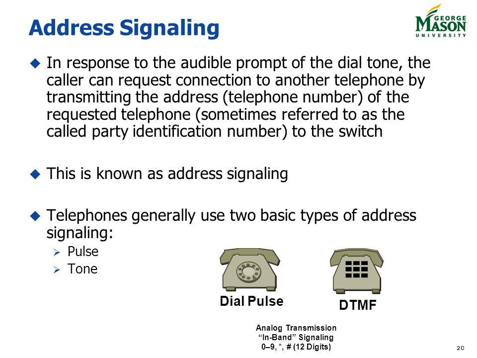 Address Signaling