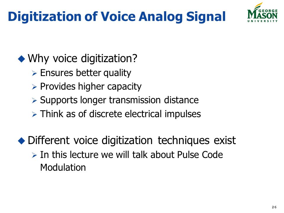 Digitization of Voice Analog Signal