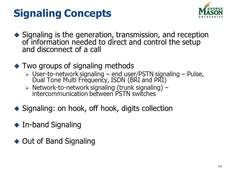 Signaling Concepts