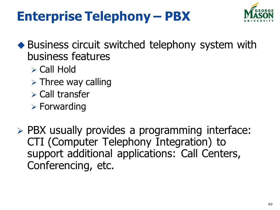 Enterprise Telephony – PBX